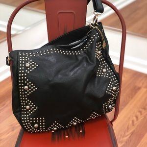 Black studded Big Buddha handbag